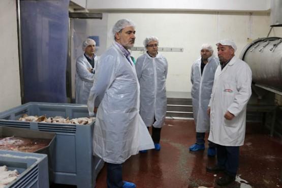 Cores Tourís na visita a Industrias Cárnicas Fontefría