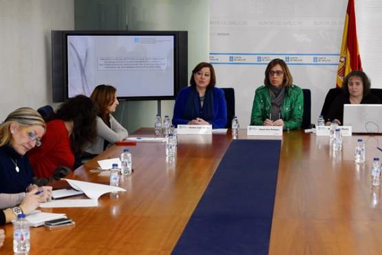 Raquel Arias na presentación do borrador
