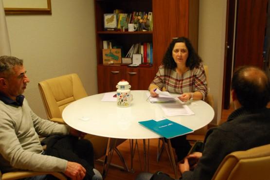 Belén do Campo na reunión coa asociación Euroeume