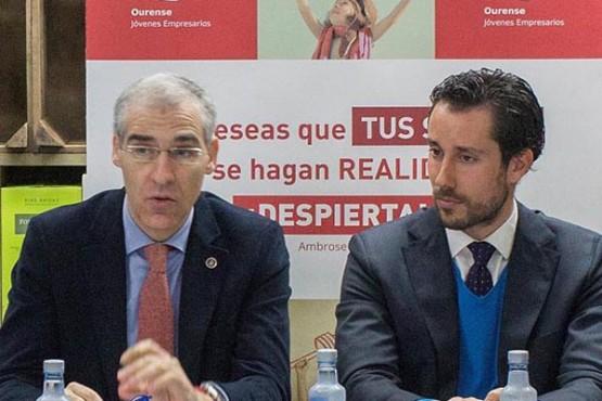 Francisco Conde no almorzo con AJE Ourense
