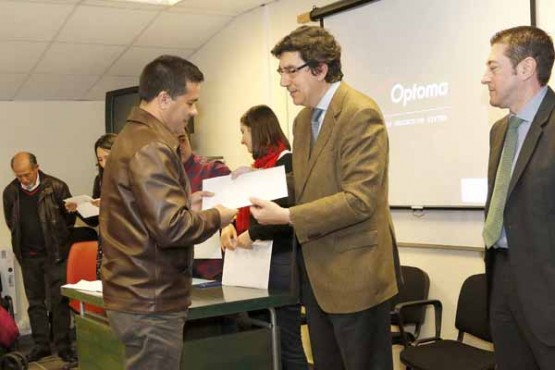 López-Chaves na entrega de diplomas
