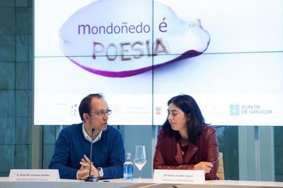 """Presentación de """"Mondoñedo é Poesía"""". Foto: X. Crespo"""