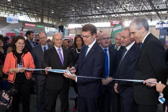 """O presidente da Xunta na inauguración de """"O polígono nunca visto"""". Foto: X. Crespo"""