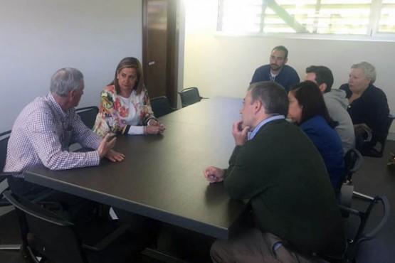 Carmela Silva na visita oficial a Campo Lameiro