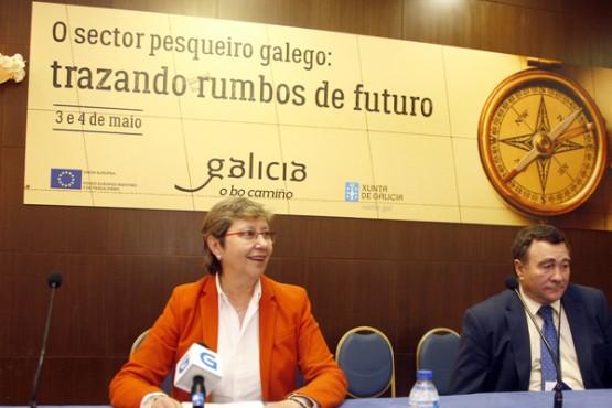 Rosa Quintana na xornada sobre o sector pesqueiro