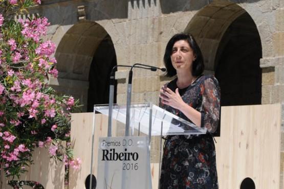 Ángeles Vázquez nos premios DO Ribeiro