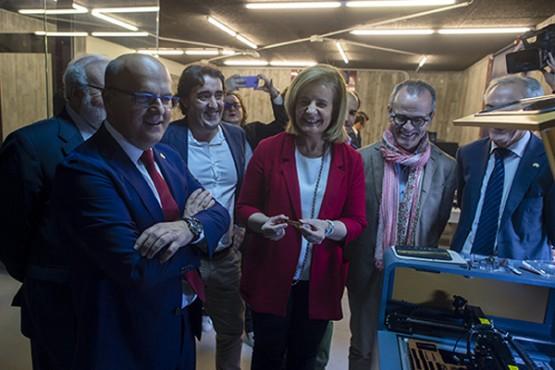 Manuel Baltar e Fátima Báñez na visita ao centro