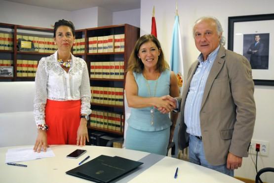 Beatriz Mato na reunión co alcalde da Peroxa