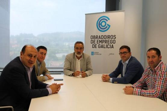 Cores Tourís na reunión cos alcaldes de Arbo, A Cañiza e Crecente