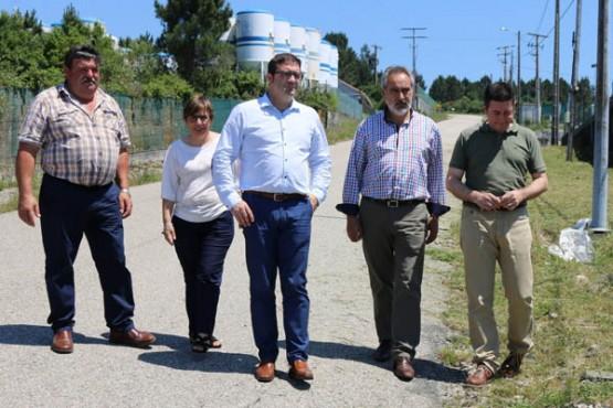 Cores Tourís na visita aos polígonos empresariais na Cañiza