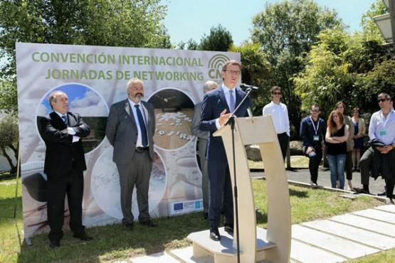 Feijóo na clausura da Convención Internacional do Clúster da Madeira e o Deseño de Galicia. Foto: X. Crespo