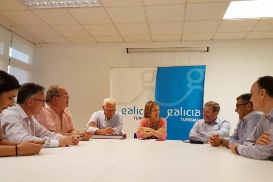Nava Castro na xuntanza cos alcaldes dos municipios beneficiados