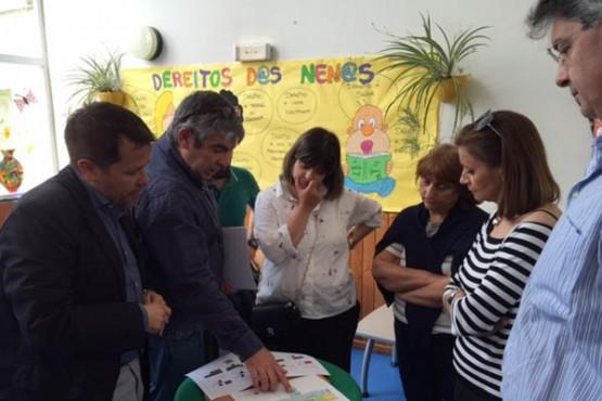 Perfecto Rodríguez na visita ás obras de reforma