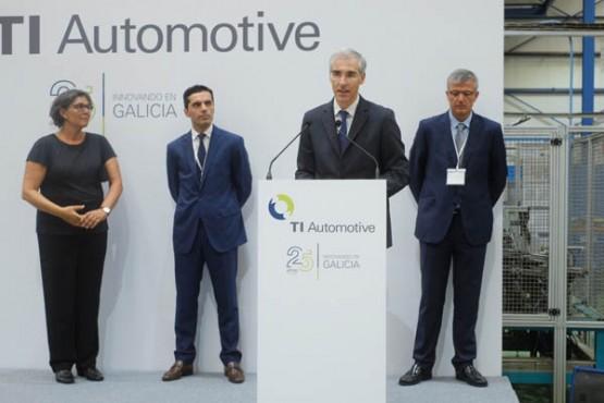 Francisco Conde no acto do 25 aniversario de TI Automotive