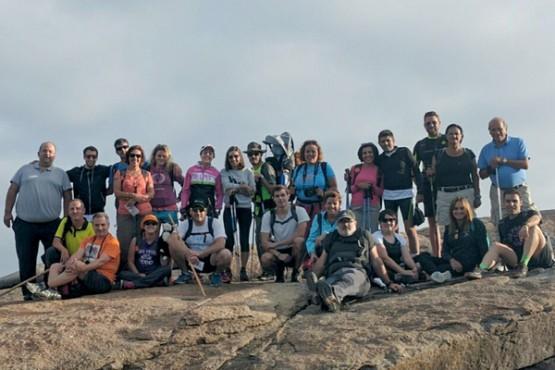 Participantes na etapa do Camiño de Santiago
