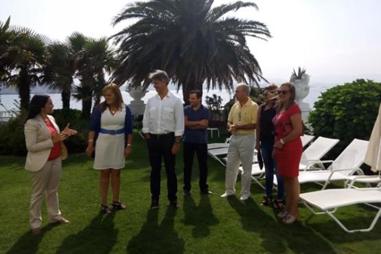 Digna Rivas na visita á illa da Toxa