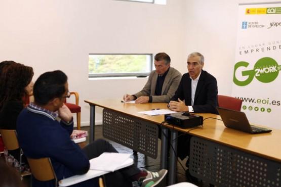 Francisco Conde no encontro cos emprendedores monfortinos