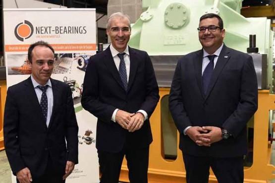 Francisco Conde na visita ás instalacións de Wärtsilä Ibérica