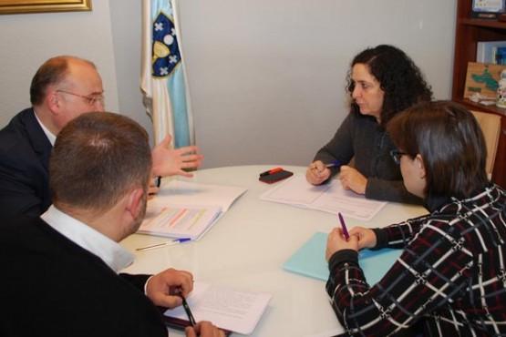 Belén do Campo na reunión co presidente da AED