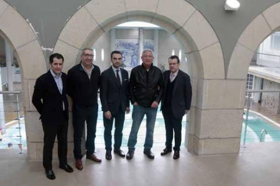 Ángel Bernardo Tahoces na visita ás instalacións do Balneario de Mondariz