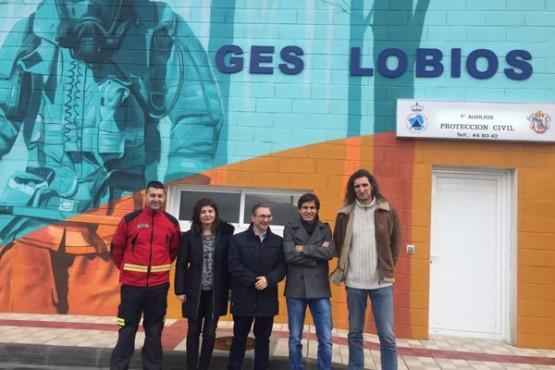 Luis Menor na visita ao GES  no concello de Lobios