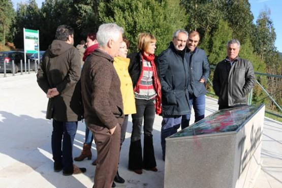 Nava Castro na visita á nova sinalización