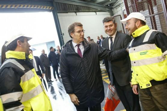 O presidente da Xunta na visita ás instalacións de Clun
