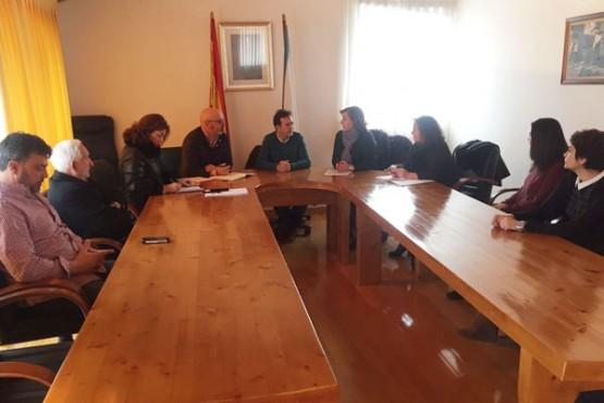 Susana López Abella na reunión coa Mancomunidade de Conso Frieiras