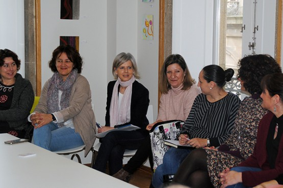 Covadonga Toca participa nun networking en Vilagarcía de Arousa