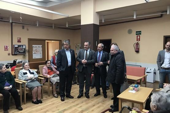 O delegado territorial da Xunta en Lugo na visita ao centro de Monforte