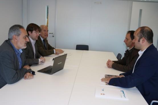 Méndez e Cores Tourís na reunión co alcalde de Mondariz