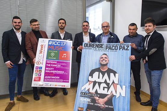 """Juan Magán, protagonista da """"ICC Music"""" da Deputación de Ourense"""