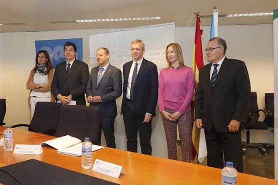 Alfonso Rueda na presentación do informe de transparencia
