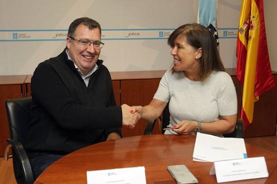 Medio Ambiente e Federación Galega de Pesca asinan un convenio para estudar o impacto do cormorán grande sobre a pesca fluvial