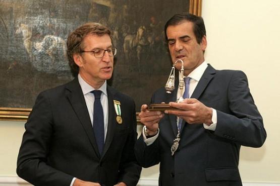 O presidente da Xunta na xuntanza co alcalde de Porto