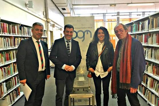 O conselleiro de Educación visita o centro de estudos galegos da Universidade da Sorbona