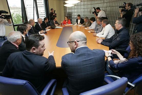 Ethel Vázquez na reunión con representantes dos concellos de Ferrolterra, Ortegal e A Mariña