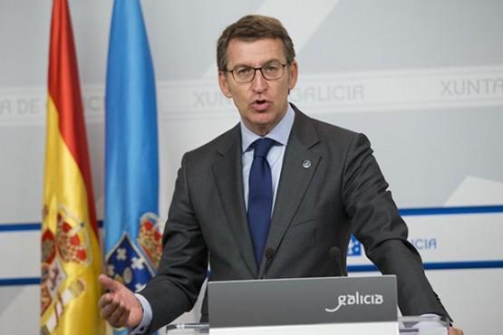 Rolda de prensa do presidente da Xunta. Foto: X. Crespo