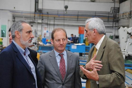Juan Cividanes e José Manuel Cores Tourís na visita ás instalacións de Tune Eureka