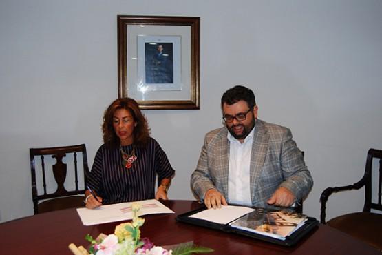 Marisol Díaz na reunión co alcalde de Castrelo de Miño