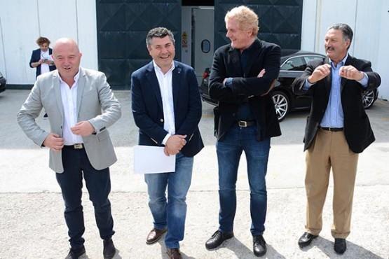 Ovidio Rodeiro na reunión cos empresarios do parque empresarial da Tomada