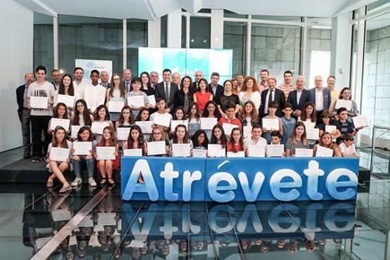O programa 'Atrévete' entrega os premios aos proxectos emprendedores de 38 estudantes de primaria e secundaria