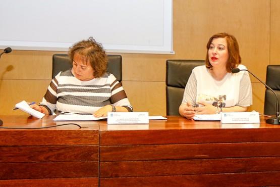 Susana López na rolda de prensa