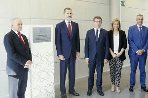 O tiltular da Xunta con Filipe VI no aniversario de Aimen