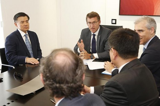 Shanghai Fisheries confirma a Feijóo o seu interese por abrir canles estables de exportación de produtos agroalimentarios galegos ao mercado chinés