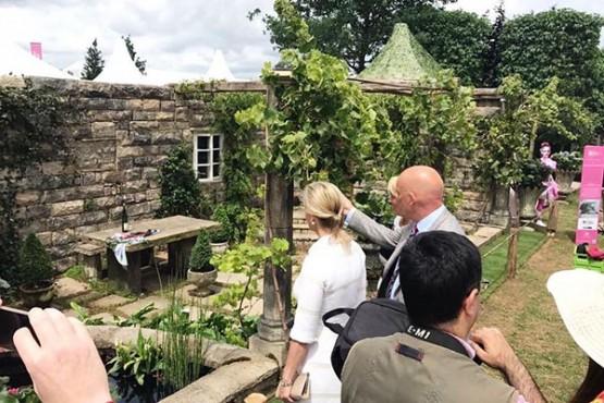 A recreación dun xardín dun pazo galego resulta premiada na prestixiosa exposición floral Hampton Court Palace Flower