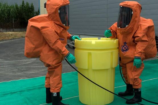 Equipos de protección química