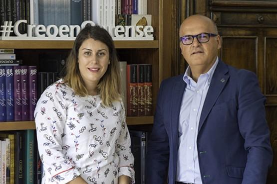 Baltar na reunión coa alcaldesa de Vilariño de Conso