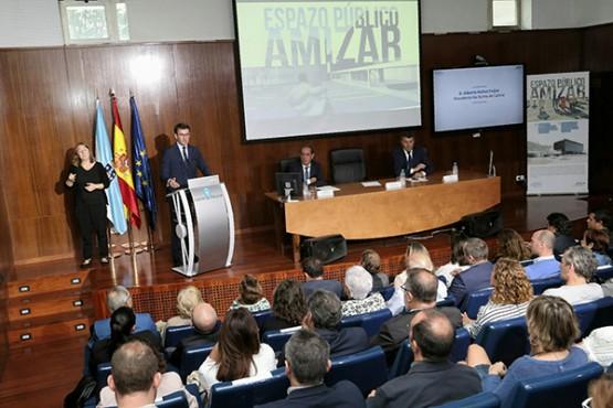 O titular da Xunta na presentación da rehabilitación da antiga sede da Consellería de Sanidade