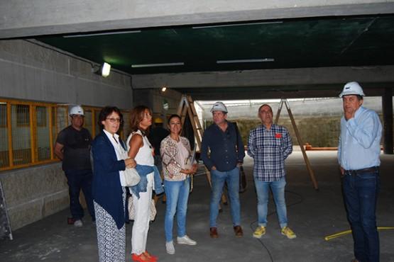 Marisol Díaz na visita ao CEIP Emilia Pardo Bazán de Leiro